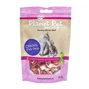 Planet Pet Gato Snack Pollo y Pescado Twist 30gr