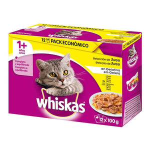 Whiskas seleccion aves 12x100 gr (x4)