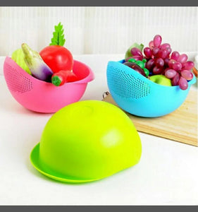 Rice Fruit Strainer Bowl