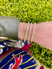 yellow gold tennis bracelets