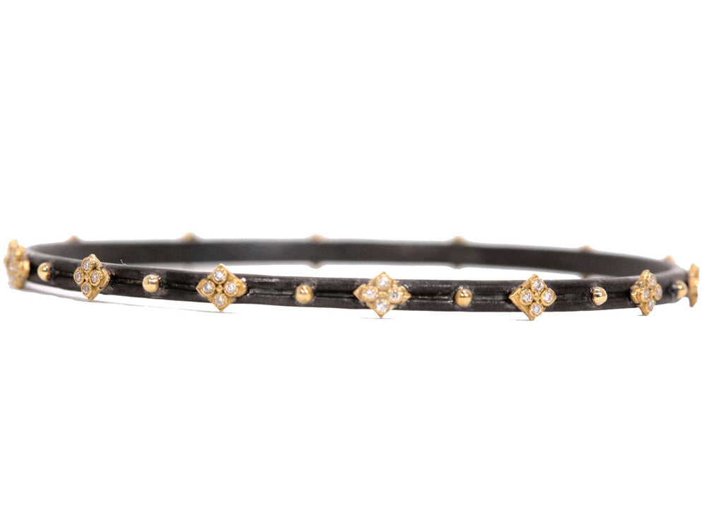 Old World Yellow Gold and Diamond Bracelet