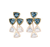 Triangle aquamarine hazard studs