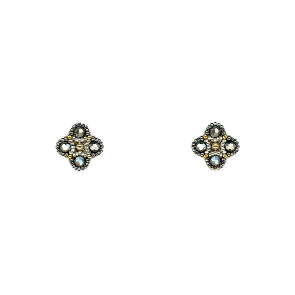 Pyrite Quad Stud Earring