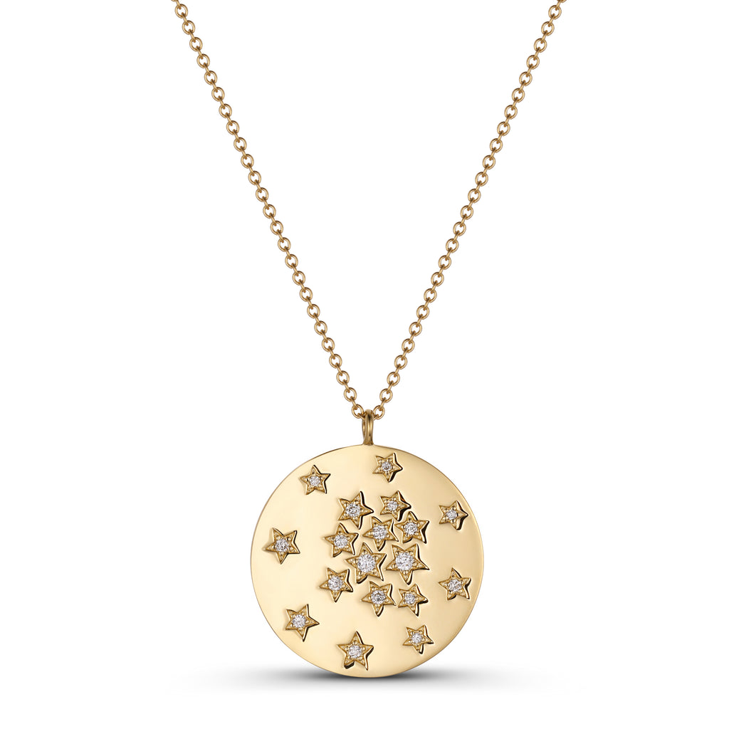 Diamond Star Disc Necklace