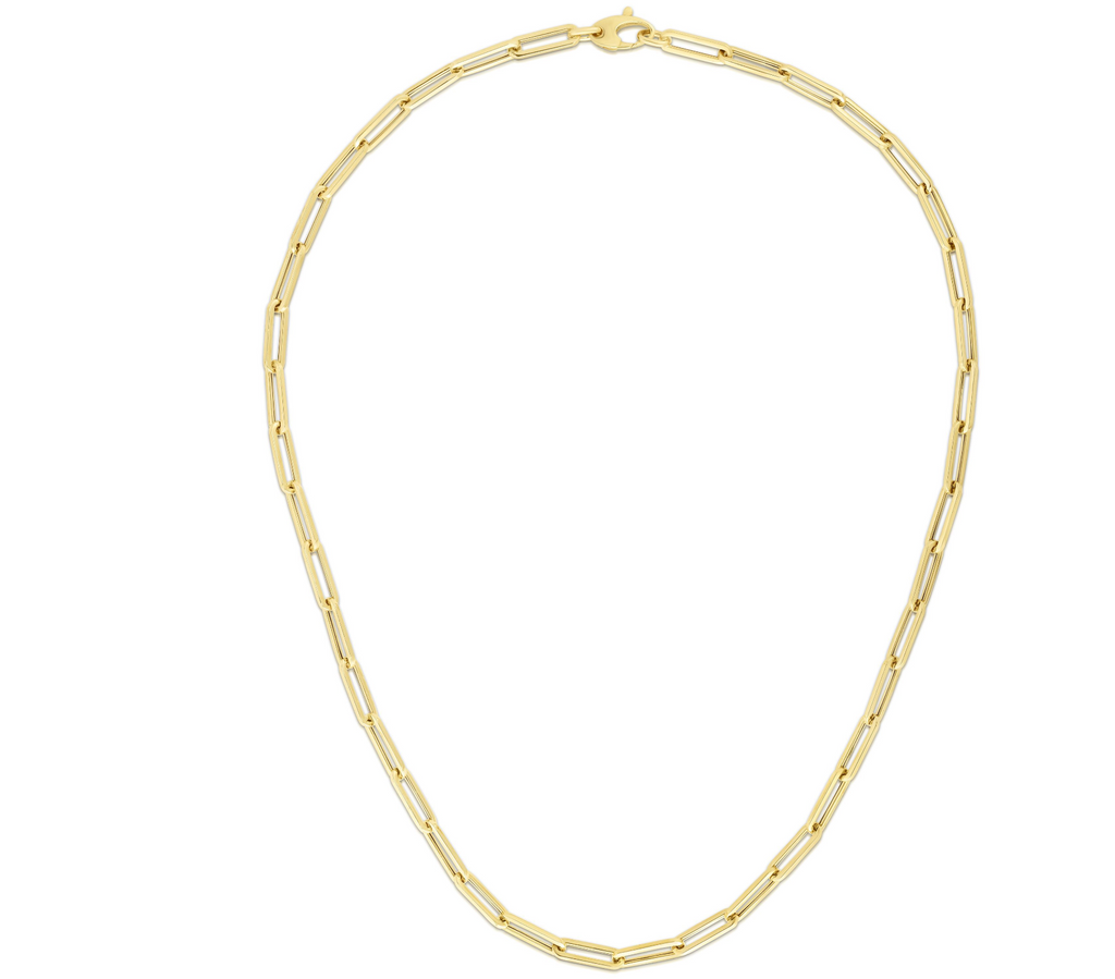 14KY 4.2mm Paperclip Necklace