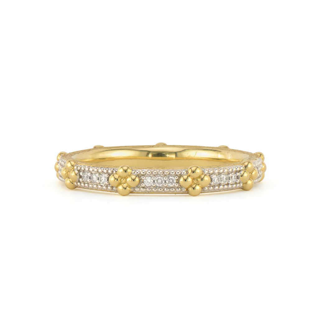 Provence Beaded Quad Pave Band