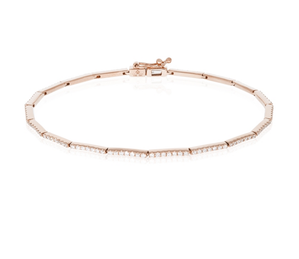 14KR Diamond Bars Bracelet
