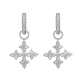 Moroccan Quad Maltese Cross Earring Charms