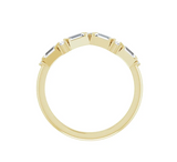 14K Yellow  Diamond Wave Stackable Ring