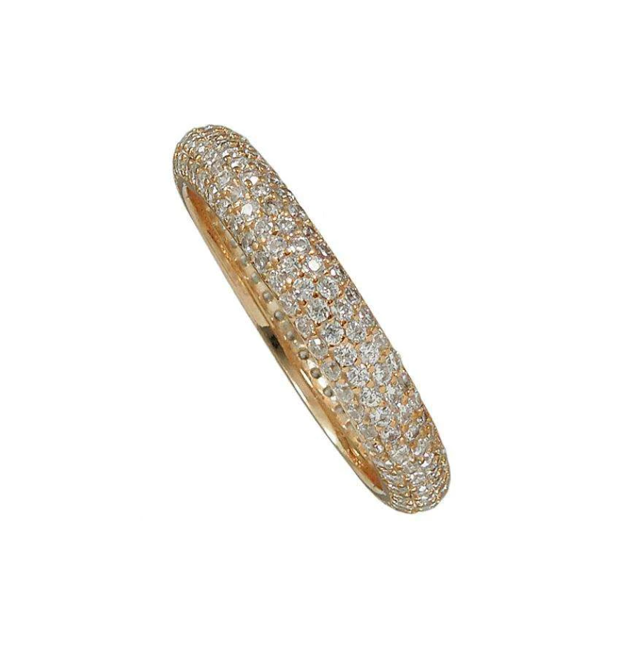 Rose Gold Pave Stackable Ring