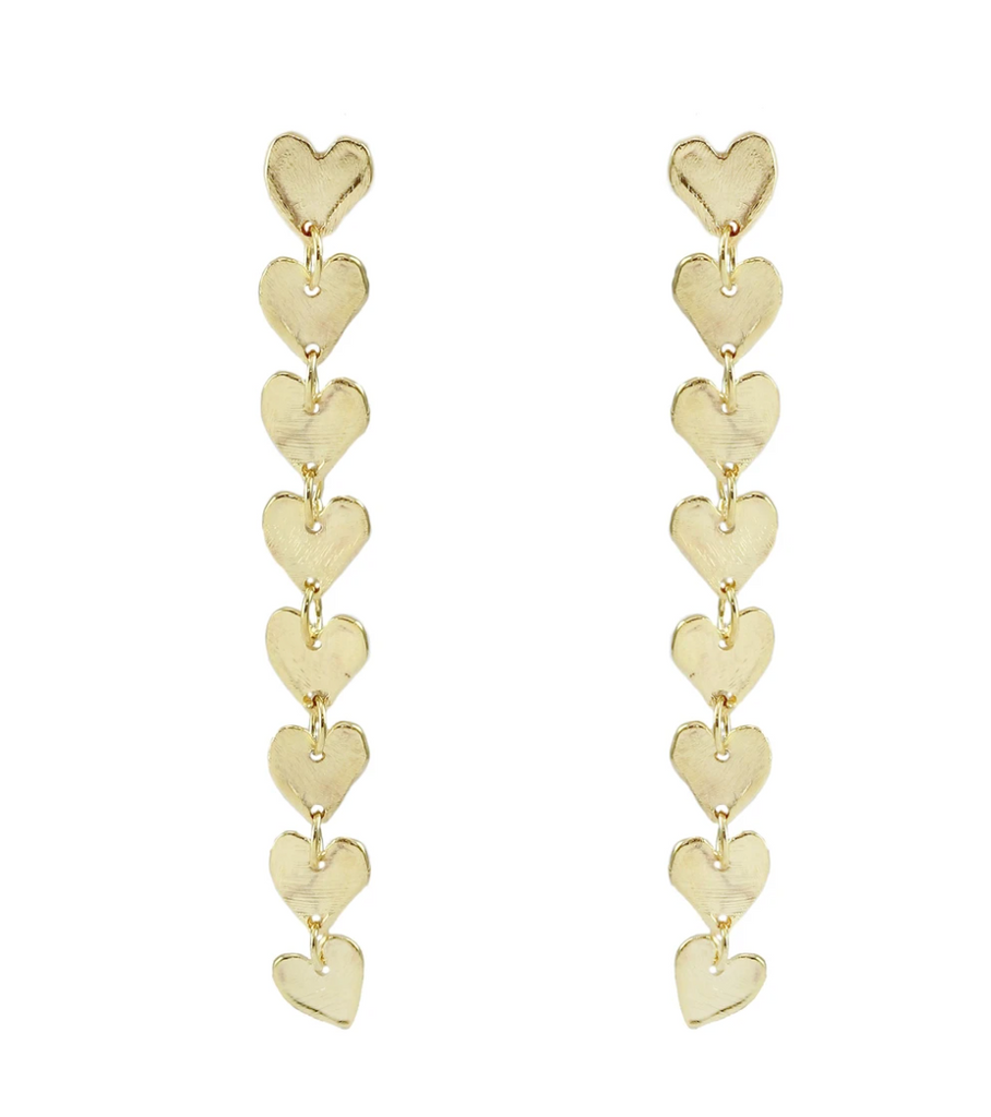 Petra Thread Heart Earrings