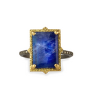 Old World 18k Lapis Moonstone Doublet Ring