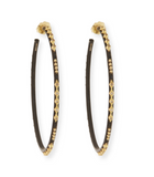 Old World 52MM Champagne and Diamond Hoops