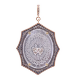 French Sacred & Immaculate Heart Pendant