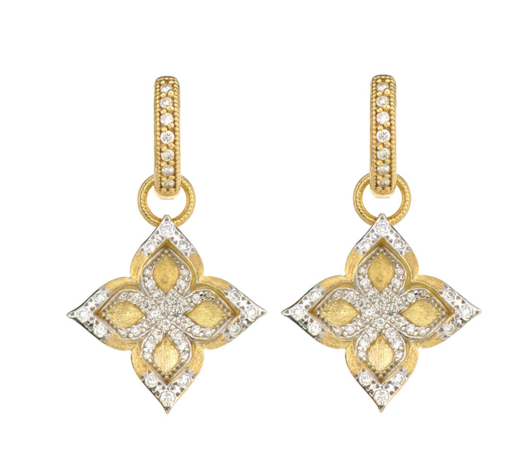 Shadow Moroccan Pave Flower Earring Charms