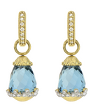 18KY Provence Briolette Charms in London Blue Topaz