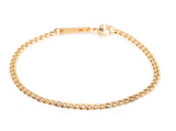 14K SMALL CURB CHAIN BRACELET
