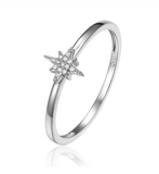 14K White Gold Petite Starburst Ring