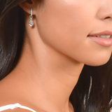 Tiny Criss Cross Stone Earring
