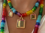 Arcadia Bead Rainbow Necklace