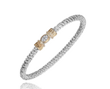 Diamond Oval Pave Center Closed 3mm Bracelet