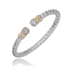 Diamond Oval Tip Open 4mm Bracelet
