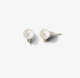 Large Pearl and Diamond Studs