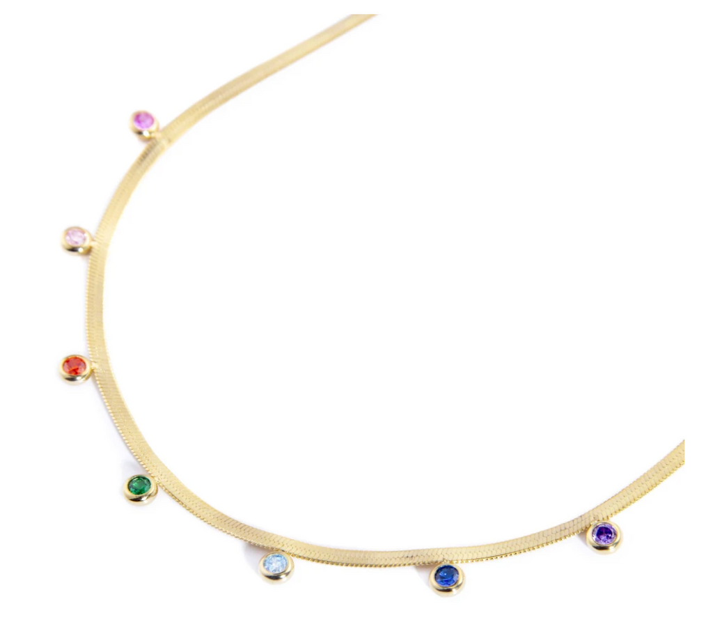 Herringbone Rainbow Necklace
