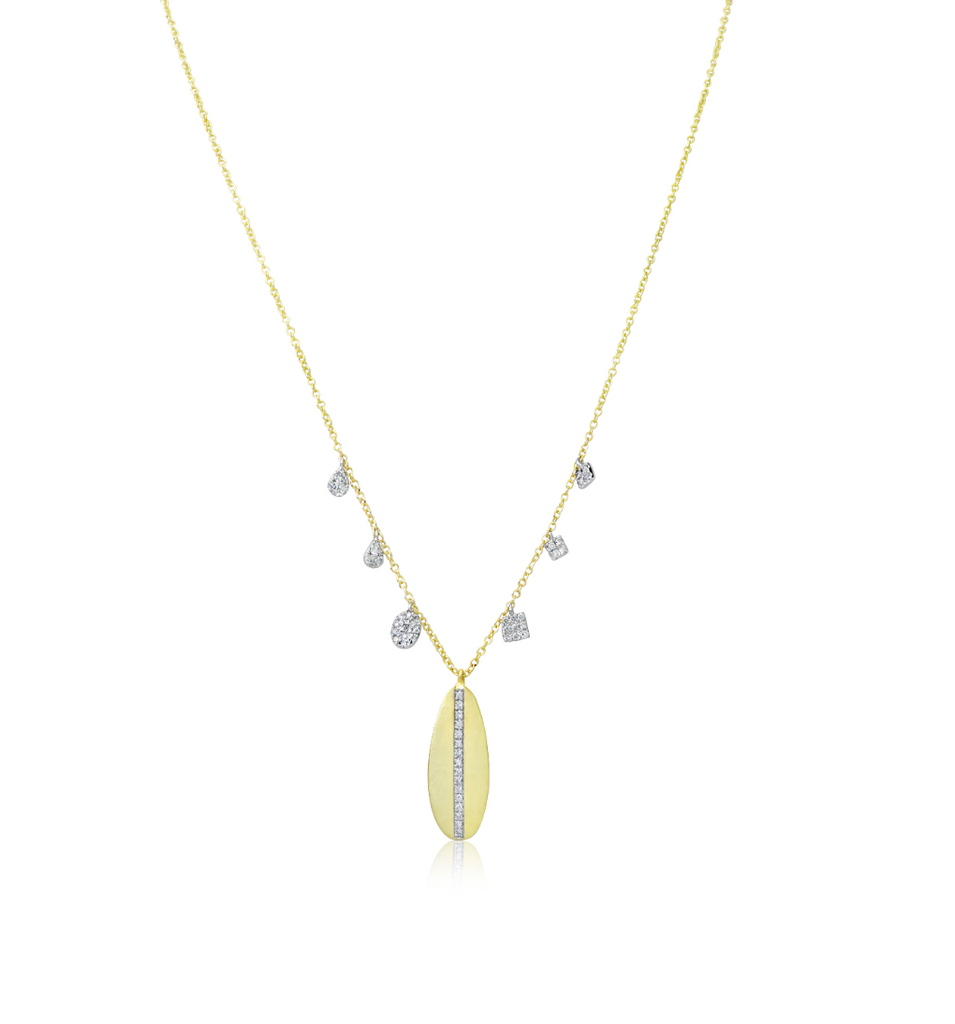 Yellow Gold Leaf Diamond Necklace
