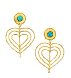 Valentine  Earrings Turquoise- Small