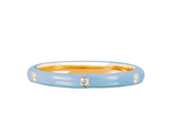 5 Diamond Baby Blue Enamel Stack Ring