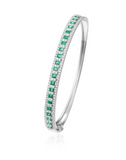 Statement Diamond and Emerald Bangle