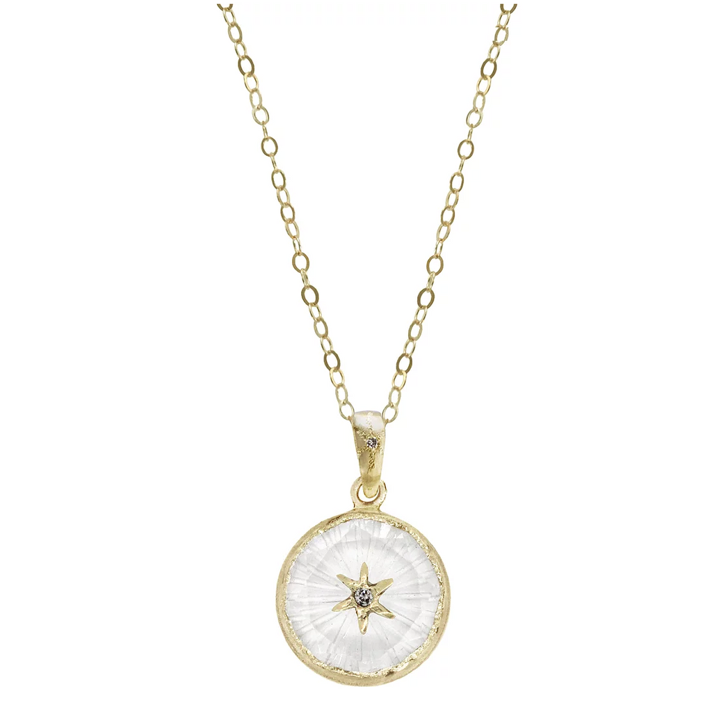 North Star Small Round Amulet Pendant