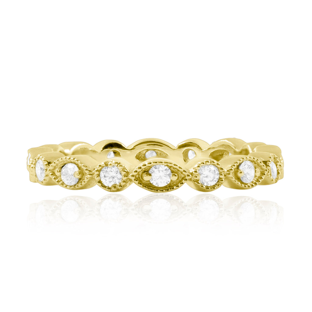 14k marquise and circle stacking band