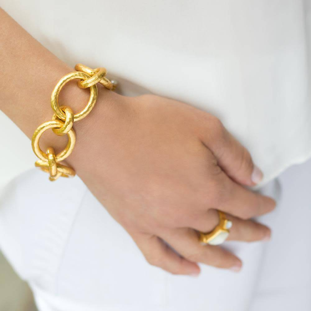 Catalina Large Bracelet Gold Pearl