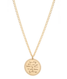 "14k gold ""Your life does not get better by chance it gets better by change"" Mantra"