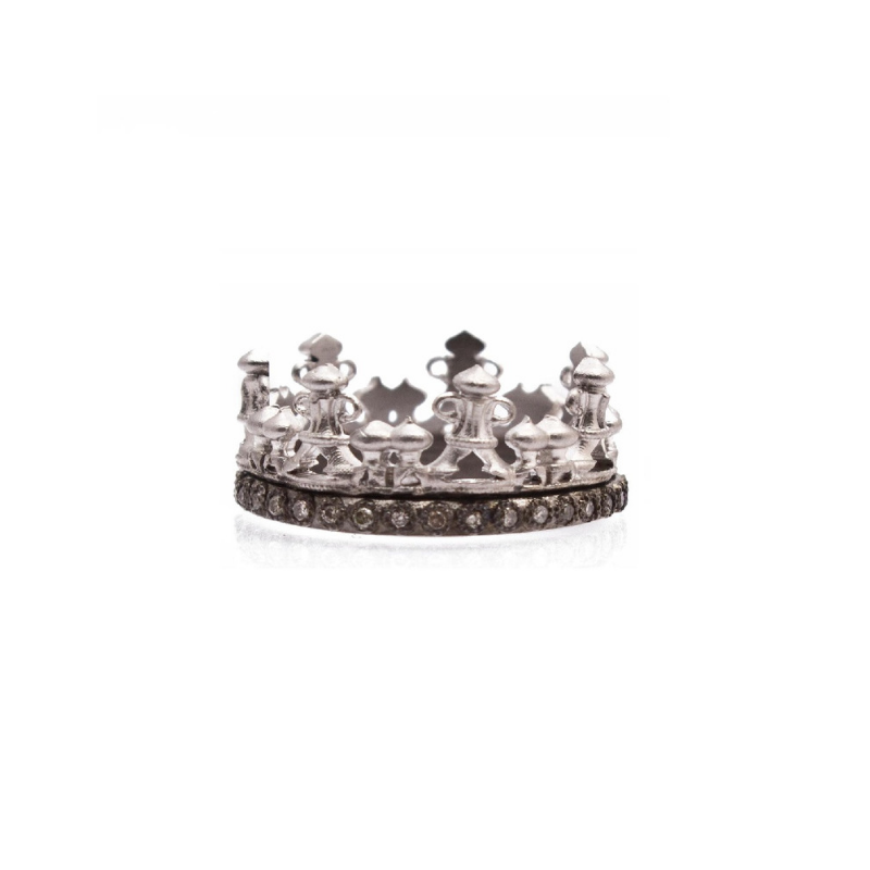 New World Champagne Diamond Crown Ring