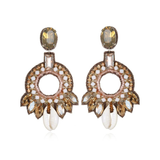 Quintana Roo Hoop Earrings- Champagne-Blush