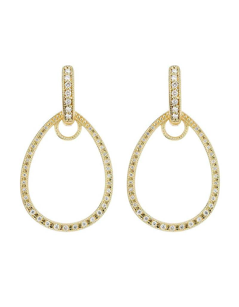 Classic Pave Tear Drop Earring Charm