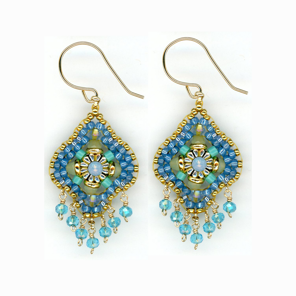 Pariba Blue Dangle Drops