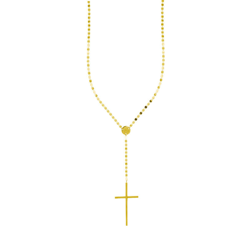 Yellow Gold Nude Chain Crossary