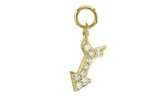 Yellow Gold Petite Pave Diamond Arrow Charm