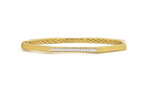 Lisse Octagonal Engraved Pave Bangle