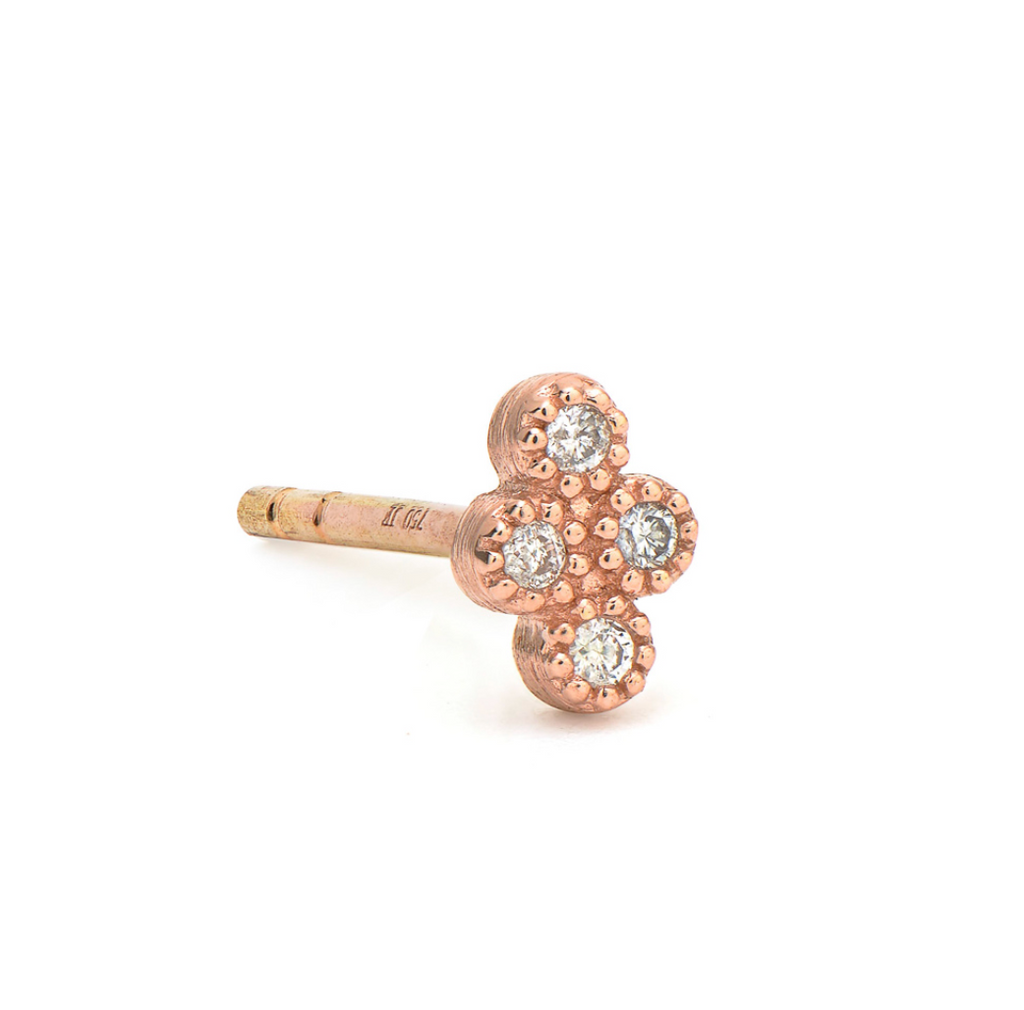Rose Gold Petite Diamond Quad