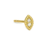 Yellow Gold Petite Marquis Stud Single