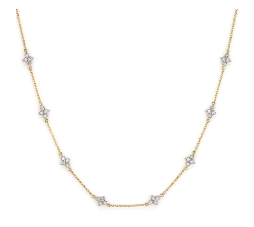Moroccan Quad Diamond Station Chain