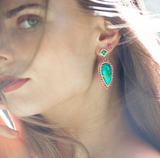 Turquoise Spinel Earring