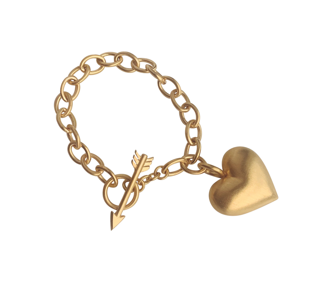 Cupid's Heart Bracelet Gold