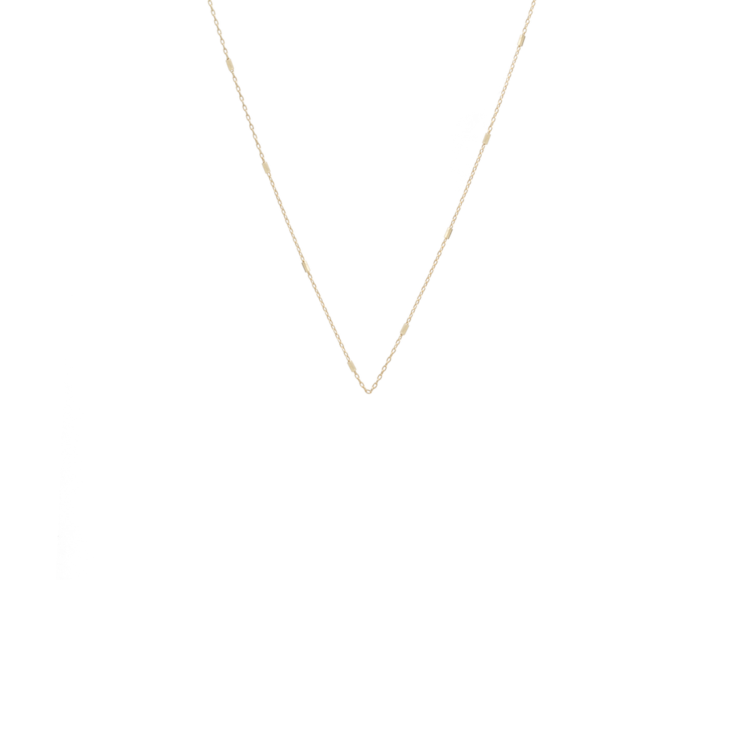 Tiny Bar Cable Chain Necklace, 18""