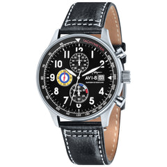 black aviator watch